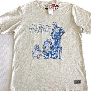 Star Wars Uniqlo NWT R2D2 C3PO Large